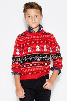 Next Christmas Snowman Sweater (3-16yrs)
