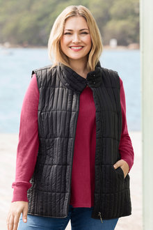 Plus Size - Sara Quilted Downtown Vest
