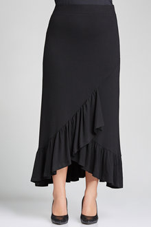 Plus Size - Ruffle Knit Skirt