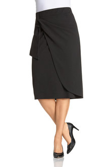 Plus Size - Sara Tie Detail Skirt
