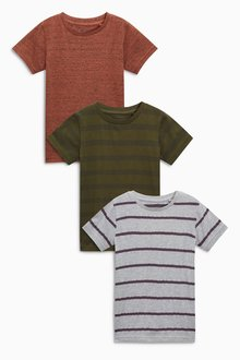 Next Striped T-Shirts Three Pack (3-16yrs)