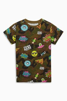Next All-Over-Print Short Sleeve T-Shirt (3-16yrs)