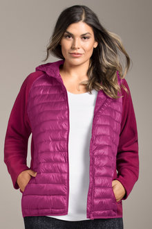Plus Size - Sara Fleece Puffer Jacket