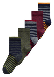 Next Stripe Socks Five Pack (Younger Boys)