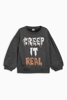 Next Halloween Slogan Sweater (3-16yrs)