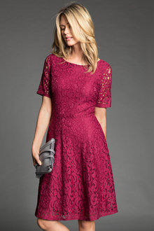 Capture Lace Fit and Flare Dress