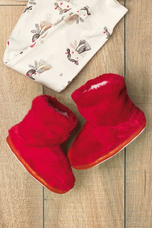 Next Faux Fur Slipper Boots (Younger Girls)