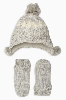 Next Hat And Mitts Set (Younger Girls)