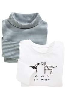 Next Dog Embellished T-Shirts Three Pack (3mths-6yrs)