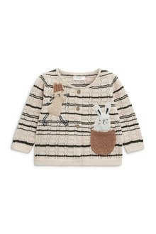 Next Bunny Pointelle Cardigan (3mths-6yrs)