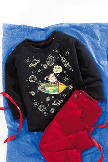 Next Santa In Space Christmas Long Sleeve T-Shirt (3mths-6yrs)