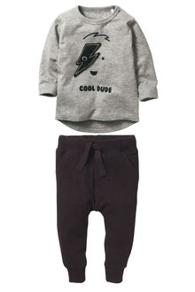 Next Cool Dude Long Sleeve T-Shirt And Joggers Set (3mths-6yrs)