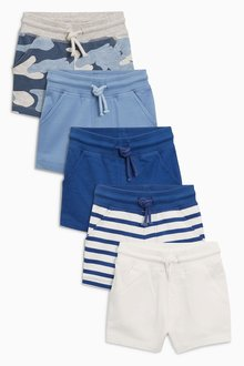 Next Camo/Stripe Shorts Five Pack (3mths-6yrs)