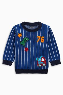 Next Stripe Badge Sweater (3mths-6yrs)