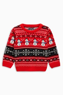 Next Christmas Snowman Sweater (3mths-6yrs)