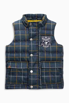 Next Padded Check Gilet (3mths-6yrs)