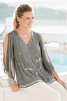 Together Beaded Split Sleeve Top