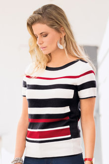 Together Multi Stripe Sweater