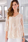 European Collection All Over Lace Top