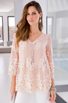 European Collection All Over Lace Top - 194627