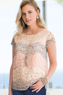 Together Tonal Lace Top