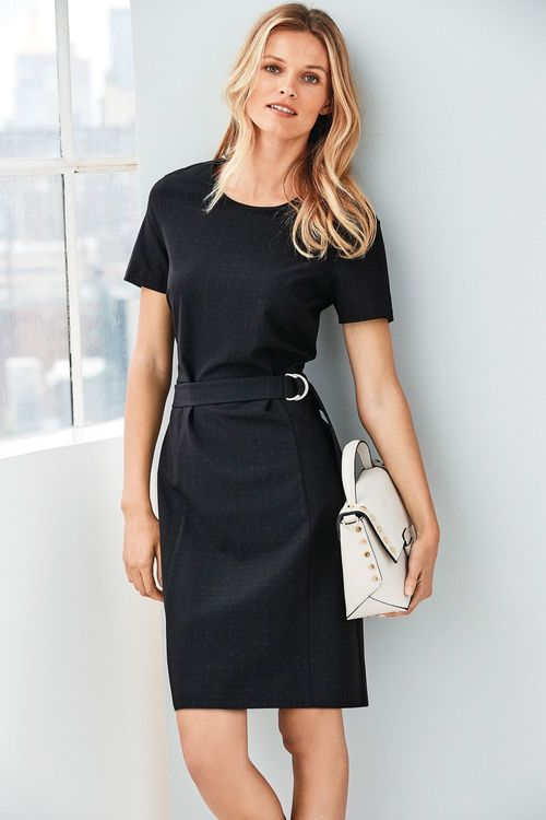 Next Belted Workwear Dress