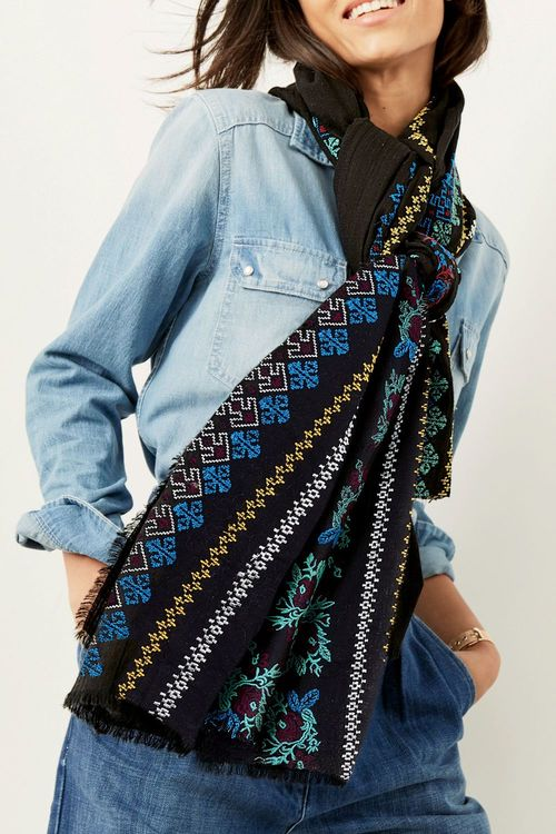 Next Embroidered Scarf