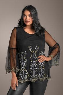 c40da31583e865 Plus Size - Sara Embroidered Tunic