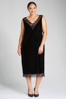 Plus Size - Sara Velvet Slip Dress