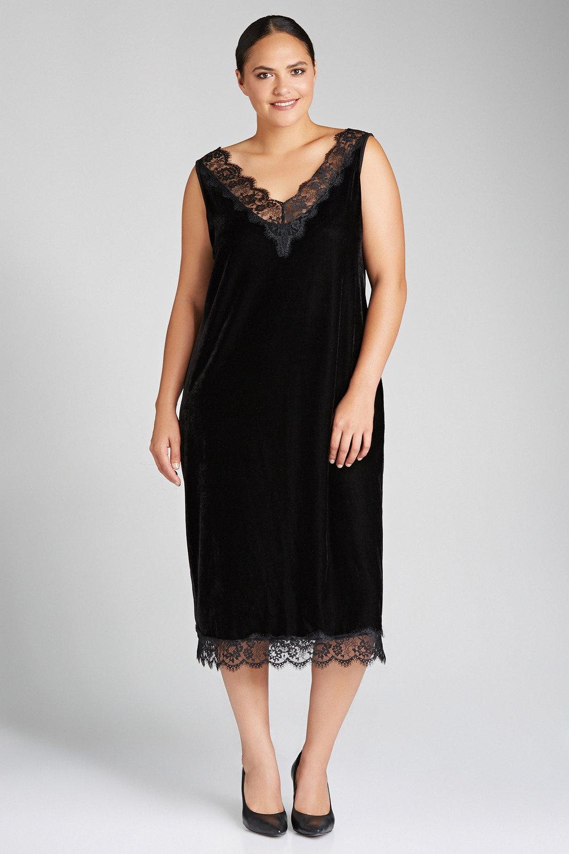 2e95f5b8b2e Plus Size - Sara Velvet Slip Dress