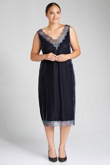 Plus Size - Sara Velvet Slip Dress