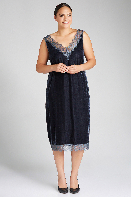 4a0420318dacf Plus Size - Sara Velvet Slip Dress