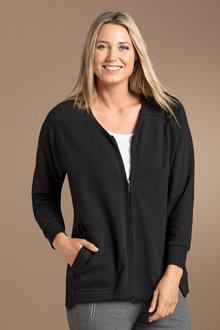 Plus Size - Sara Zip Front Stretch Jacket