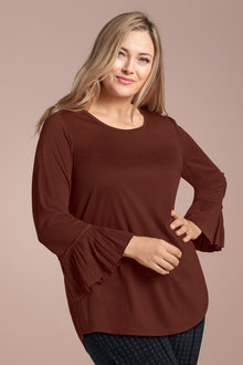 Plus Size - Sara Pleat Detail Top