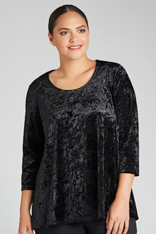 Plus Size - Velvet Tunic