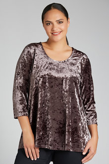 Plus Size - Velvet Tunic