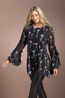 Plus Size - Sara Statement Sleeve Tunic