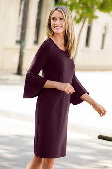 Capture Textured Sleeve Dress