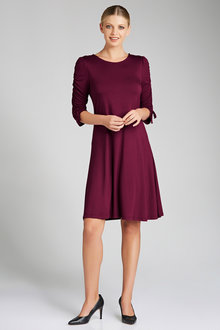 Capture Ruched Sleeve Knit Dress