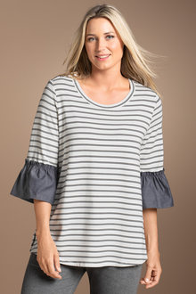 Plus Size - Sara Sleeve Detail Tee