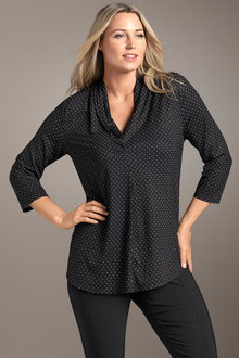 Plus Size - Gathered Vee Top