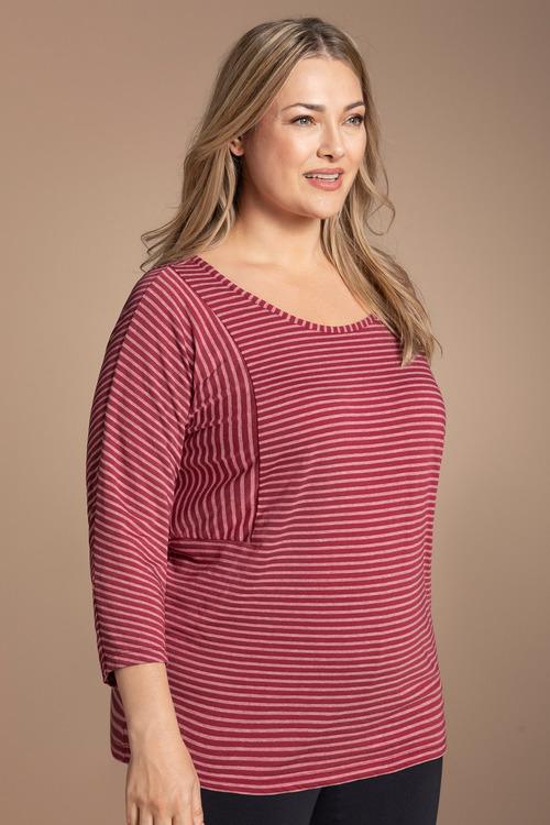 Plus Size - Sara Stripe Tee