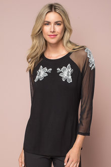 Capture Embroidered Mesh Tee