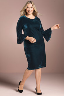 Plus Size - Sara Velvet Shift Dress