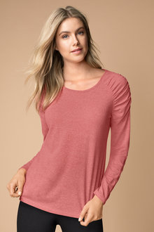 Capture Ruched Sleeve Tee