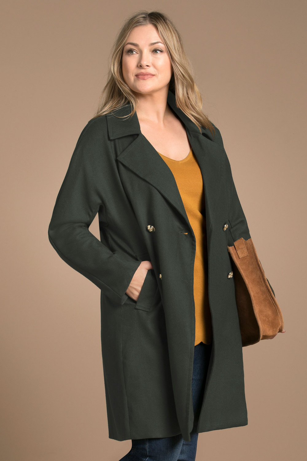 bd66dcc20e6 Plus Size - Sara Double Breasted Statement Coat