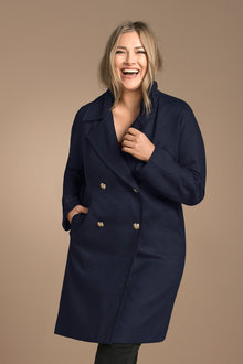 Plus Size - Sara Double Breasted Statement Coat