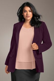 Plus Size - Sara Smart Blazer