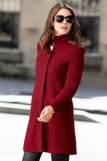 Capture Wool Blend Boucle Coat