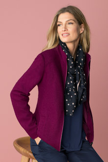Capture Wool Blend Boucle Coat